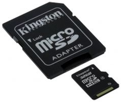 Карта памяти MicroSD 32Gb  Kingston SDC4/32GB, Class 4