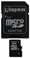Карта памяти MicroSD 8Gb  Kingston SDC10/8GB